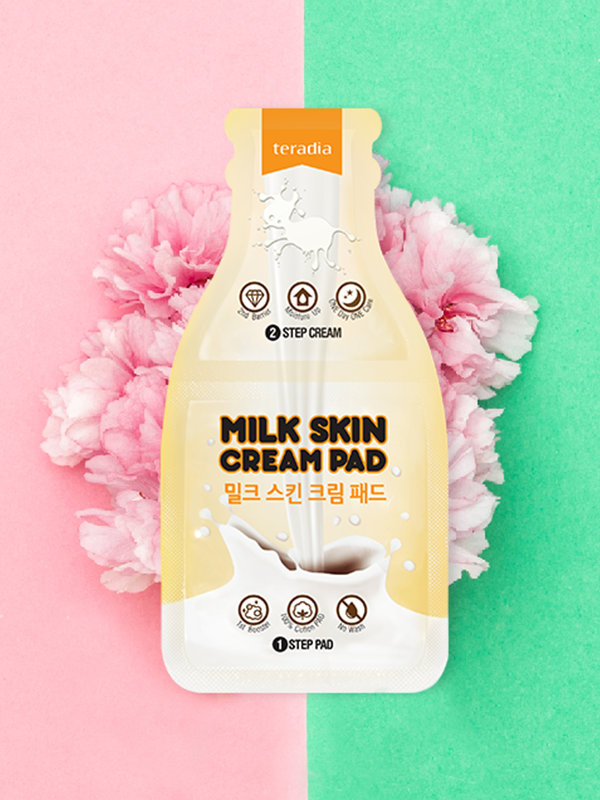 Milk skin cream pad