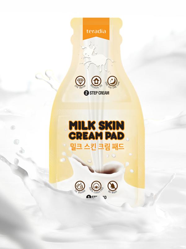 Milk skin cream pad